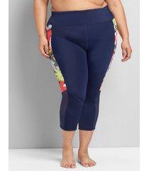 lane bryant women's swim capri legging 16 pop floral