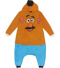 mr. potato head women's one piece hooded pajama, online only