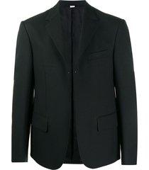 random identities open front blazer - black