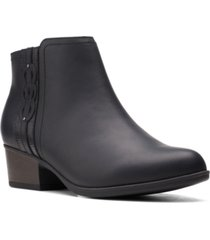 clarks collection women's adreena lilac booties women's shoes