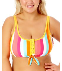 california waves plus size bralette bikini top women's swimsuit