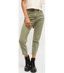 pantalón jacqueline de yong verde - calce ajustado