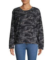 camo-print sweatshirt