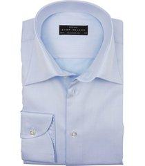overhemd john miller licht blauw tailored fit