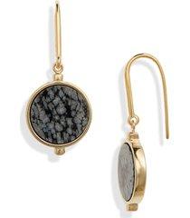 women's isabel marant snowflake obsidian drop earrings
