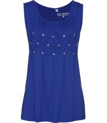 top lungo con pietre (blu) - bpc selection