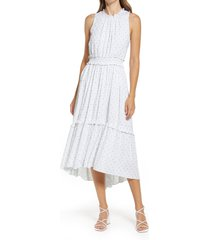 lilly pulitzer(r) chaya midi dress, size large in resort white metallic at nordstrom