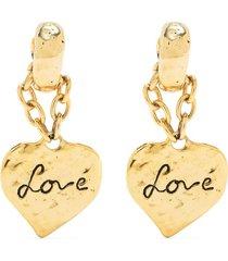 love heart pendant earrings