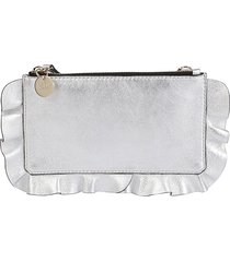 red valentino ruffle clutch