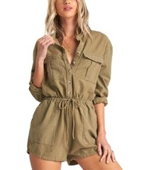 billabong juniors' wake the night cotton romper