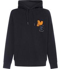 marcelo burlon logo-patch cotton hoodie