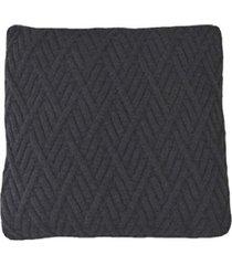 capa almofada tricot 40x40cm / 45x45cm c/zãper sofa trico cod 1025 preto - preto - feminino - dafiti