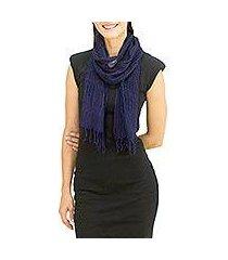silk scarf, 'summer sapphire' (thailand)
