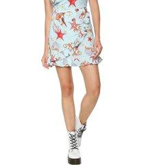 falda azul-multicolor glamorous