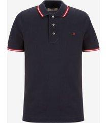stripe detail polo shirt blue 60
