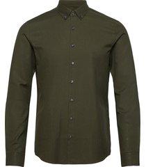 soft touch bd slim shirt overhemd casual groen calvin klein