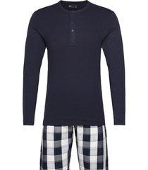 pyjamas lang buks pyjamas blå jbs