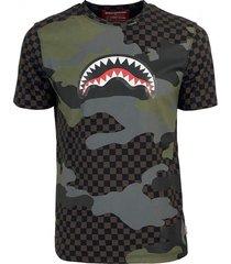 brown camo shark t-shirt