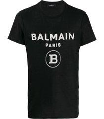 contrasting logo cotton t-shirt