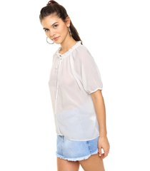 blusa natural asterisco capricho