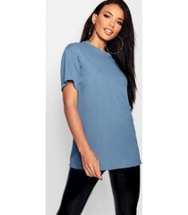 basic oversized boyfriend t-shirt, indigo