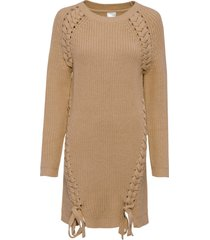 maglione lungo con stringatura (marrone) - bodyflirt
