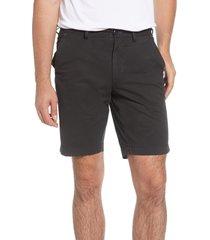 men's brax belleville regular fit flat front stretch cotton bermuda shorts, size 36 - black