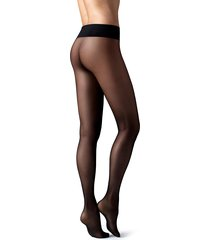 calzedonia - 20 denier seamless totally invisible sheer tights, s, black, women