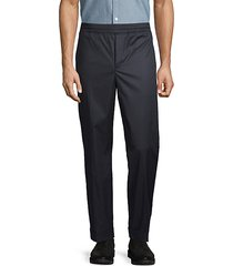 stretch flat-front trousers