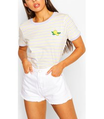 lemon stripe ringer t-shirt, lilac