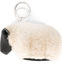loewe sheep keyring charm - black