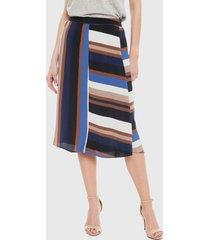 falda only donna asymetric multicolor - calce regular