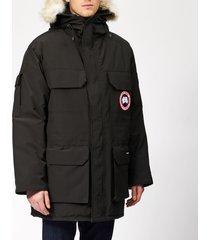 canada goose men's expedition parka jacket - black - m - black