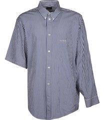 asymmetric sleeve stripe shirt