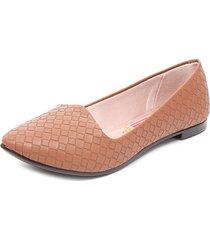zapato plano camel moleca