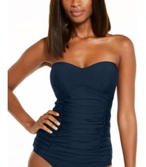 dkny removable strap tankini swimsuit top women's swimsuit