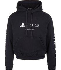 balenciaga man black playstation fitted hoodie