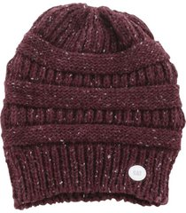 gorro lana mujer confetti knit beanie burdeo cat