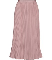 crepe light pleatd midi skirt knälång kjol rosa french connection