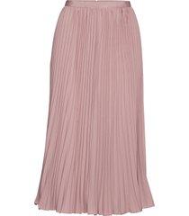crepe light pleatd midi skirt knälång kjol rosa french connection