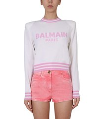 balmain sweater with embroidered logo
