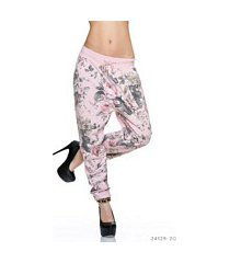 harem-broek mixed / rose