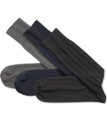 johnston & murphy men's 3-pk. solid ribbed socks