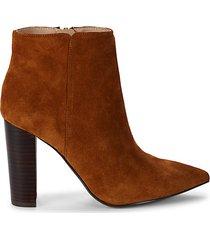 annie stacked heel booties