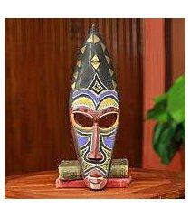 african mask, 'royal hat' (ghana)