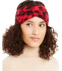 dkny fuzzy animal print knit twist headband