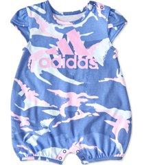 adidas baby girls shortie printed romper