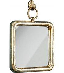 lustro ścienne portrait złote 28cm
