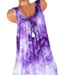 tie dye net panel plus size babydoll dress