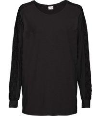 maglia con maniche a pipistrello e pizzo (nero) - bodyflirt